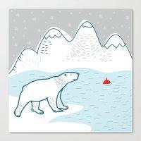 polar bear Canvas Prints featuring polar bear by LOLIA-LOVA