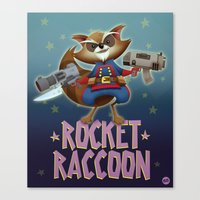 rocket raccoon Canvas Prints featuring Rocket Raccoon by Alex Santaló