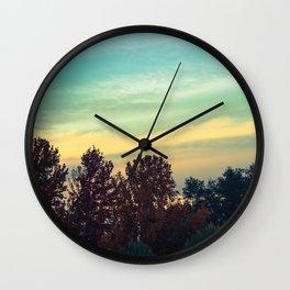 Protean Autumn Sky Wall Clock