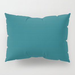 Clear Day Ocean Blue Solid Colour Palette Matte Pillow Sham