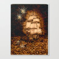 peter pan Canvas Prints featuring Peter Pan by Red, the artist