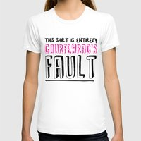 the fault T-shirts featuring courfeyrac's fault by Gender Monster