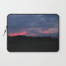 Purple and Pink Sunset Laptop Sleeve