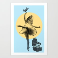 Ballerina Fish Art Print