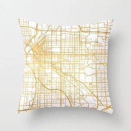 DENVER COLORADO CITY STREET MAP ART Throw Pillow
