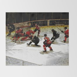 The End Zone - Ice Hockey Game Throw Blanket