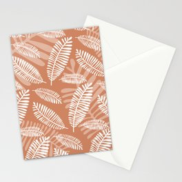 Palm Fronds . Terra Cotta Stationery Cards