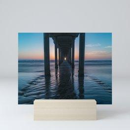 Sunset Long Exposure at Scripps Pier Mini Art Print