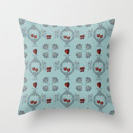Decorative with cherries and berries Throw Pillow