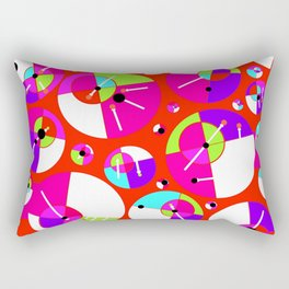 Bubble Red Rectangular Pillow