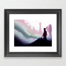 Broken Land Framed Art Print