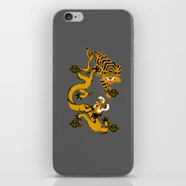 the mystical dragons and tigers of the East iPhone Skin