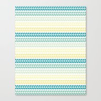 knit Canvas Prints featuring Knit 1 by K&C Design