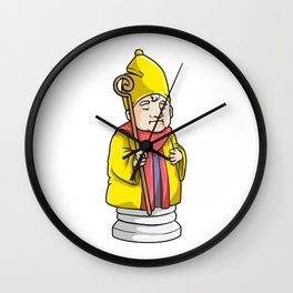 Bishop Chess piece at Chess Wall Clock