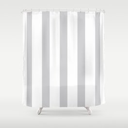 Gray vertical lines Shower Curtain