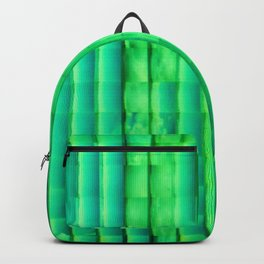Abstract Glass Green Backpack