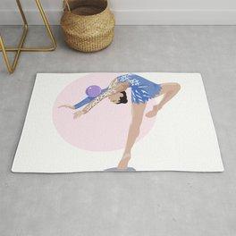 Rythmic Gymnast with a ball Rug