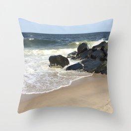 Baesic Belmar Beach Throw Pillow