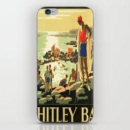retro Whitley Bay retro poster iPhone Skin