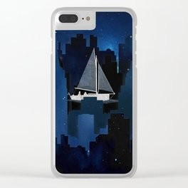 City Sailing Clear iPhone Case