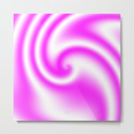 Raspberry Ribbon Candy Fractal Metal Print