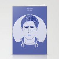 breakfast club Stationery Cards featuring The Breakfast Club - Andrew by Priscila Floriano