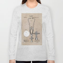 patent art Pratt 1887 Stethoscope Long Sleeve T-shirt