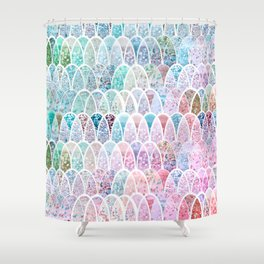 DAZZLING MERMAID SCALES Shower Curtain