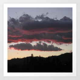The end of another glorious day.... Art Print