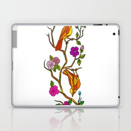 Bird on Cherry Blossom Low Polygon Laptop & iPad Skin