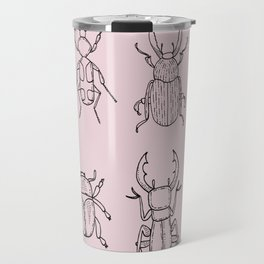 Beetles (Primrose Pink) Travel Mug