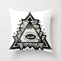third eye Throw Pillows featuring Third Eye by Eco Juliet