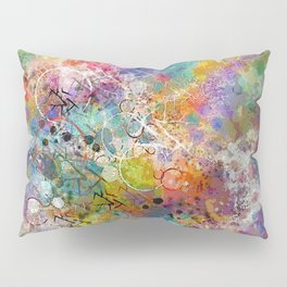 PAINT STAINED ABSTRACT Pillow Sham