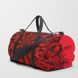 Blood Red & inked Duffle Bag