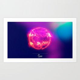 Cosmos Sun Art Print