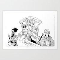 fire emblem Art Prints featuring Fire Emblem Awakening Ink  by TheGiz
