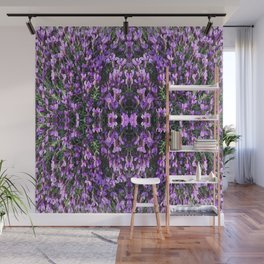SPANISH LAVENDER AND ONE BEE Wall Mural