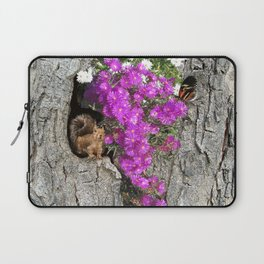 Flowering Vygies and a Squirrel in a tree Laptop Sleeve