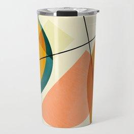 mid century geometric shapes painted abstract III Travel Mug