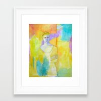 chef Framed Art Prints featuring Chef by lizmcdonaldstudio.com