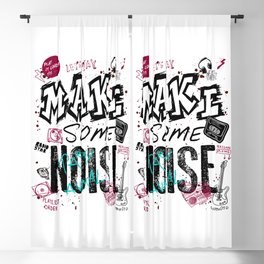 Make some Noise Blackout Curtain