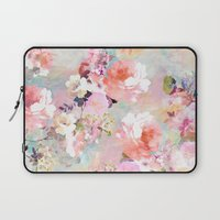 elegant Laptop Sleeves featuring Love of a Flower by Girly Trend