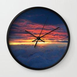 Sunrise on Station 8.5 Wall Clock