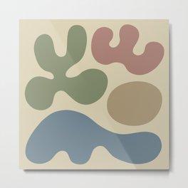 Mid Century Modern Organic Abstraction 238 Metal Print