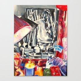 Through the mirror Canvas Print