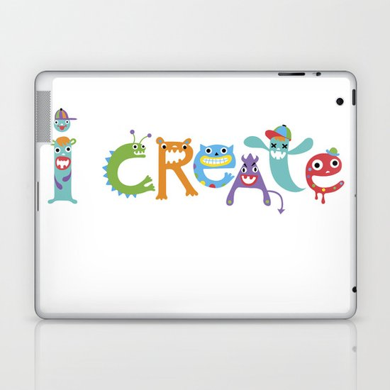 I Create Critters Laptop & iPad Skin