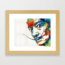 Colorful Dali Art by Sharon Cummings Framed Art Print