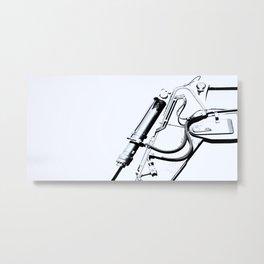 Arm of Bleach Industrial Digger Metal Print