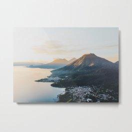 Sunrise over Lake Atitlán Metal Print