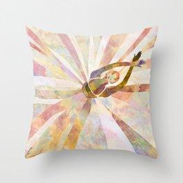 Sleeping Ballerina Floral - Gold Summer Palette Throw Pillow